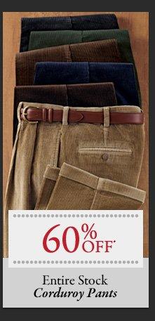 60% OFF* Corduroy Pants