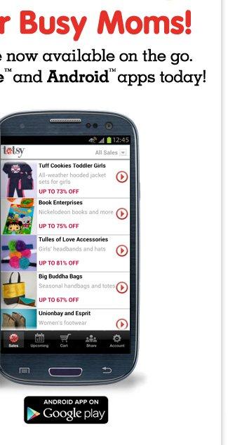 Totsy Android App