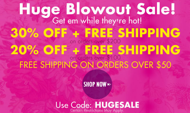 Huge Sale on Miss KL! 30% Off + Free Ship on orders over $200!