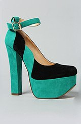 The Your It Shoe in Aqua and Black