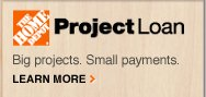 Project Loan BIG PROJECTS. SMALL PAYMENTS. Learn More>