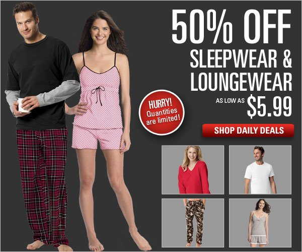 Loungewear and Sleepwear 50% off