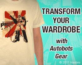 Transform your wardrobe with Autobots gear