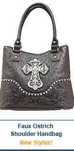 Faux Ostrich Shoulder Bag