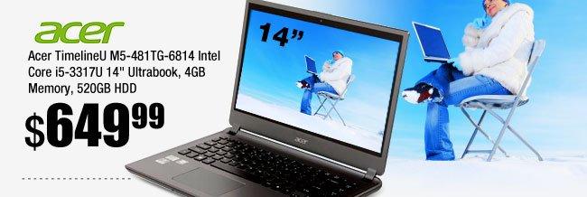 Acer TimelineU M5-481TG-6814 14-inch Ultrabook