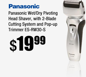 Panasonic Wet/Dry Pivoting Head Shaver, with 2-Blade Cutting System and Pop-up Trimmer ES-RW30-S