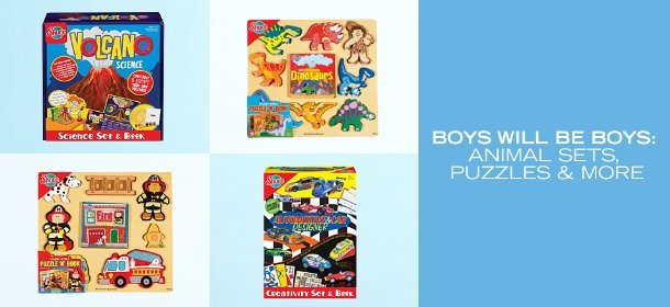 BOYS WILL BE BOYS: ANIMAL SETS, PUZZLES & MORE, Event Ends January 15, 9:00 AM PT >