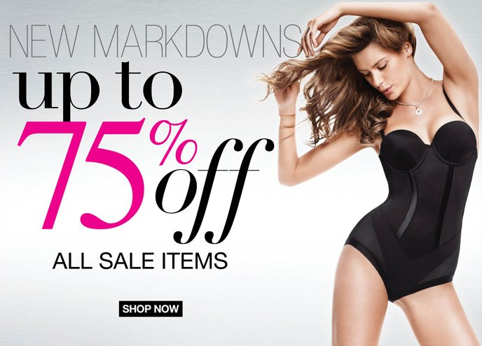 New Markdowns Up to 75% Off All Sale Items