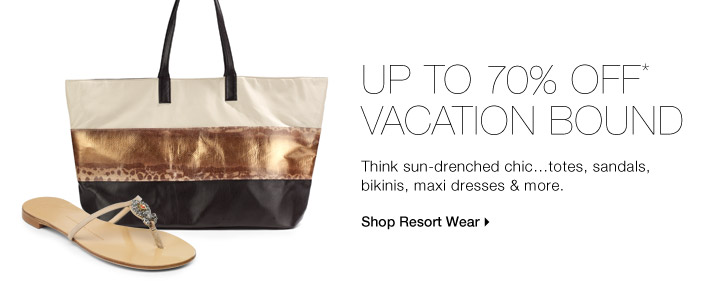 Up To 70% Off* Vacation Bound