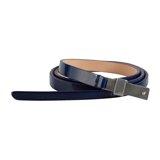 Paul Smith Belts - Navy Patent Waist Belt
