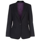 Paul Smith Jackets - Black Single Button Wool Blend Jacket