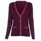 Paul Smith Knitwear - Long Burgundy Cardigan