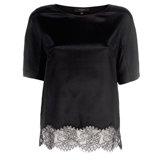 Paul Smith Tops - Black Silk Lace Hem Top