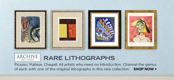 ARCHIVE: RARE LITHOGRAPHS, Event Ends January 15, 9:00 AM PT >