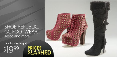 Shoe republic, GC footwear, Jesco and more lowest prices of the season