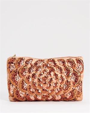 Lanvin LU Rare Sequined Bronze Satin Evening Bag $999
