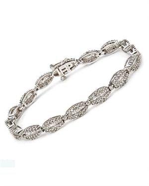 3 CTW Diamonds Ladies Bracelet Designed In 14K White Gold $1,369