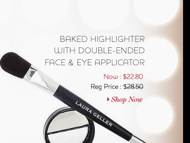 Baked Highlighter with Double-Ended Face & Eye Applicator. Shop now >