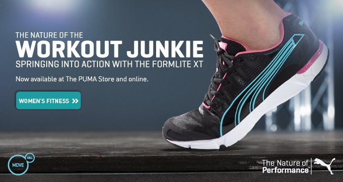 THE NATURE OF THE WORKOUT JUNKIE SPRINGING INTO ACTION WITH THE FORMLITE XT