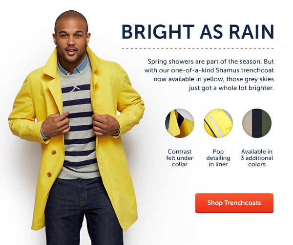 Yellow Fashion Trench Coat