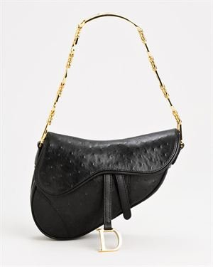 Christian Dior LU Genuine Leather Saddle Bag