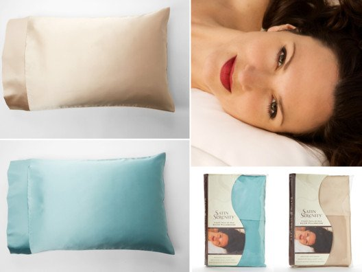 Luxurious Anti-Aging Satin Pillowcases by Satin Serenity from Sophie Uliano