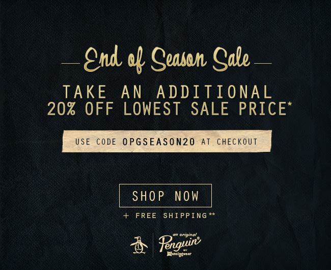 END OF SEASON SALE TAKE AN ADDITIONAL 20% OFF LOWEST SALE PRICE