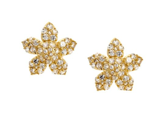 Indulge in a little flower power with these glam studs!