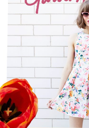 Pollinate your closet with blooms from head to toe