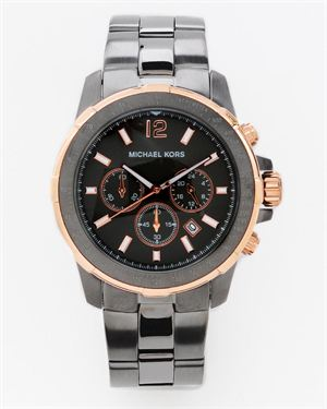 Michael Kors Men's Chronograph Garrett Gunmetal Plated Watch