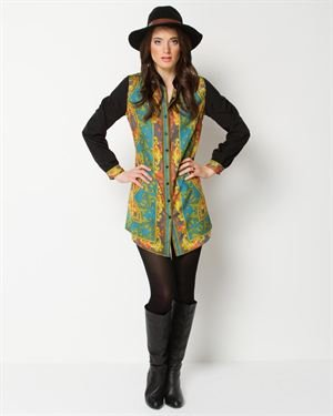 Angie Multicolor Printed Tunic