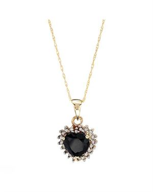 Ladies Sapphire Necklace Designed In 10K Yellow Gold $119