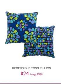 Reversible Toss Pillow - $24