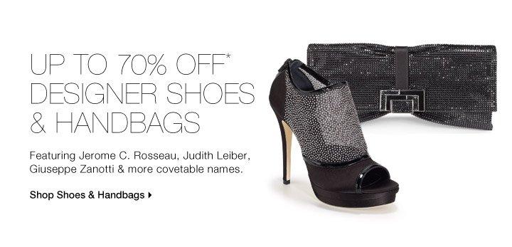 Up To 70% Off* Designer Shoes & Handbags