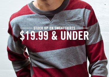 Shop Stock Up: Sweatshirts $19.99 & Under