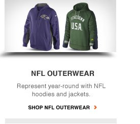 NFL OUTERWEAR | Represent year-round with NFL hoodies and jackets | SHOP NFL OUTERWEAR