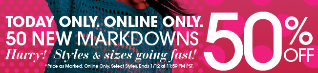 50 New Mardowns - 50% Off - Shop It
