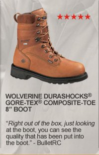 "Wolverine Durashocks GORE-TEX Composite-Toe 8"" Boot"
