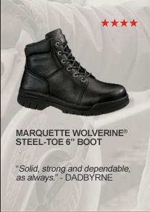"Marquette Wolverine Steel-Toe 6"" Boot"
