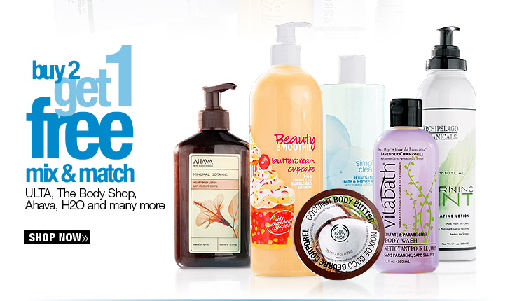 Buy 2 Get 1 FREE Body Products
