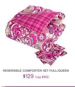 Reversible Comforter Set Full/Queen - $129