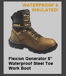 "Flexion Generator 8"" Waterproof Steel Toe Work Boot"