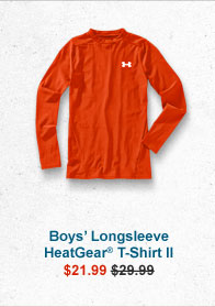 BOYS' LONGSLEEVE HEATGEAR® T-SHIRT II - $21.99