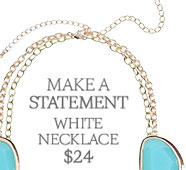 Make a Statement! White Necklace $24