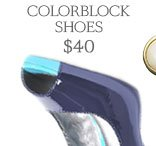 Heel Appeal! Colorblock Shoes $40