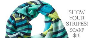Show your Stripes! Scarf $16