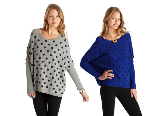 Sweater weather is better weather...that is, when you have really cute sweaters to wear! And these polka dots are irresistible.
