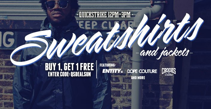 Sweatshirts & Jackets: Buy 1, Get 1 Free