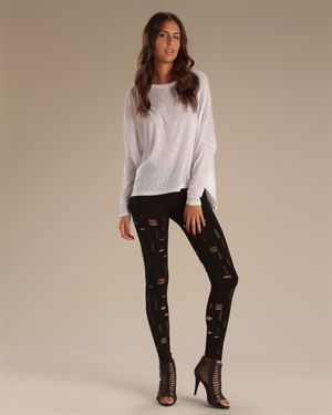 6126 By Lindsay Lohan Molly Cut-Out Leggings