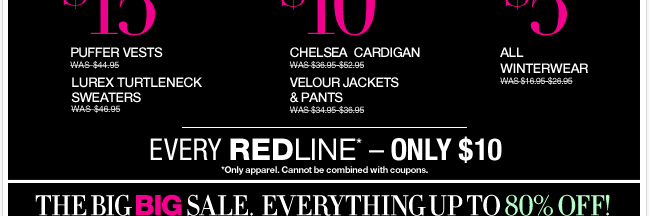 Unbelievable NY Deals and Redlines! Shop now!